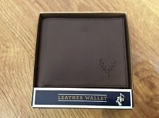 MENS Simple Stylish Brown Genuine Leather CENTURY HOUSE WALLET with Card Holders