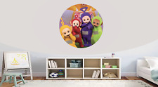 Teletubbies Self Adhesive Gloss Sealed Graphic Round Wall Decal Sticker Poster