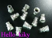 200 pcs Tibetan silver dotted cone spacer beads A422
