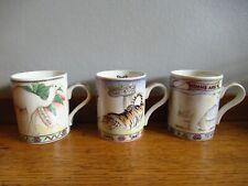 More details for arthur wood noahs ark mug x 3 camel tiger & polar bear unused