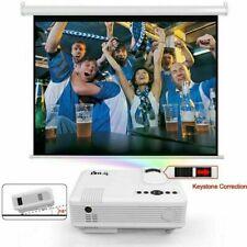 3800 Lumens LED Home Theater Projector 4K 3D Full HD 1080P Video AV USB HDMI TF