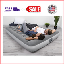 New Air Mattress with Built in Ac Pump Flocked Airbed Camping (Twin,Full,Queen)
