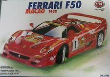 BURAGO 1:24 DIE CAST KIT IN METALLO AUTO FERRARI F50 MACAO 1995  ART 5552