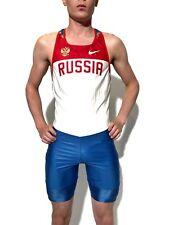 Nike Russian team running speedsuit season 2015. Spandex singlet
