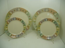 CORELLE MIRAGE CORNING 4 PC LOT 2 DINNER PLATES 10.25 / 2 BREAD PLATES 7.25 EUC