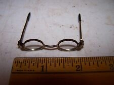 Oval Framed Brass Reading Glasses #2 - Dolls / Bears