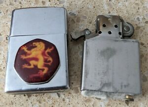 Original Zippo Chrome Lighter -Customised 4 Game Of Thrones with tin -used