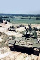 column of tanks T34 War Photo WW2  4x6 inch J