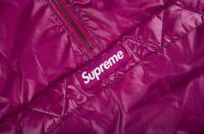 NEW Supreme Contrast Stitch Pullover Purple Size Large L jacket coat FW17