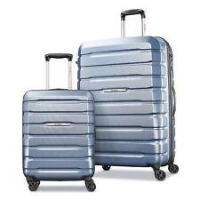 2Pc Samsonite Tech 1 Hardside Spinner Suitcase Luggage Set Blue
