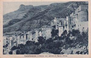 Cartolina Postale - Castellonerato (Littoria) con veduta di Monte Altino