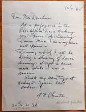 Abstract Painter Arthur N. Christie Autograph Letter To Philly Art Critic