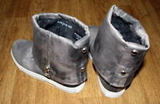 Ladies Women Grey Shoes Booties EU Size 37 -  Used