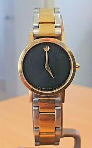 Vintage Movado Museum Ladies GP Swiss V8 7 jewel quartz watch