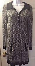Women's MISSONI Sweater Collared Dress Space Dye White Gray Black Target Sz S