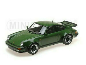 PORSCHE 930 911 3.0 TURBO - 1977 dark green - Minichamps 1:12 - 125066117   RAR