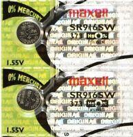 373 MAXELL WATCH BATTERIES (2 piece) SR916SW SR68 V373 D373 New AuthorizedSeller