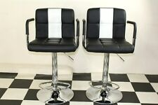 American Diner Retro Style Chair Furniture Kitchen Black X 2