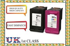 2 301XL Black And Colour Ink Cartridges For HP 301 Envy 4500 4502 4504 4505 4507