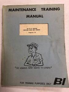 Braniff Intl.Dc-8-62 Maint.Training Manual Landing Gear & Brakes 1967 Original