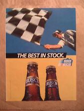 The Best In Stock. Nascar - Busch/Busch Light - '92 Beer Ad