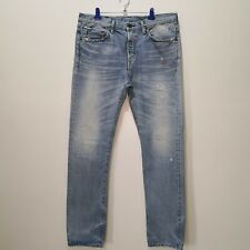 Edwin Made in Japan Distressed Selvedge Denim Jeans w Rhinestones Accent