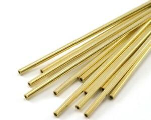 10 pcs. Himmeli Tubes Beads 2.5mm Width (Optional Length) Gold Tone Copper Tube