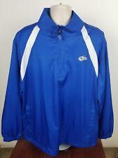Bud Light Platinum Blue Windbreaker Jacket Men's 2XL Rain Coat 1/2 Zipper