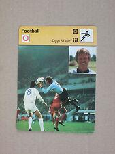 FICHE CHAMPION FOOTBALL MAIER BAYERN MUNCHEN MUNICH  DEUTSCHLAND GERMANY 1977
