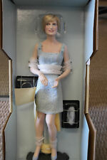 "Franklin Mint Princess Diana Doll Porcelain Millennium Swan Lake LE/2000 17"" COA"