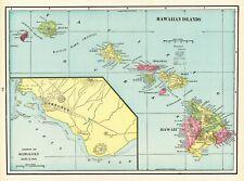 1903 Antique HAWAII State Map Vintage Map of Hawaii Hawaiian Islands Map #6930