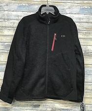 CB Sports Men's Golf Performance Fleece Jacket Black on Black Sz Small   (AAA1)