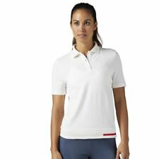 Womens Reebok Classics Pique Polo Top - White Size Small New With Tags