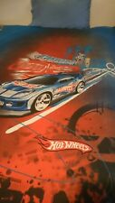 Hot Wheels Single Doona Cover and plain blue pillow case VGC