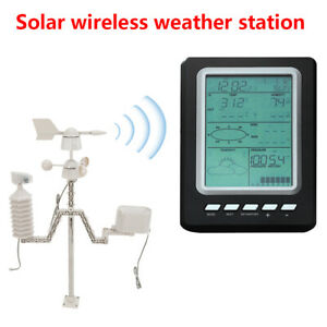 Wireless Solar Power Weather Station Automatic Adjust Weather Stations 433MHz