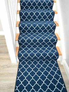 Dark Navy Blue Rugs For Stairs Narrow Carpets For Traditional Modern Stairways