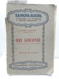 La nuova scuola Ore joconde favole esopiane Vallardi 1932