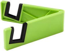 Universal Mobile Tablet Smart Phone Slim Stand Holder Plastic Foldable Green