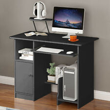 Small White Computer Desk Study Pc-Table Laptop Home Office Workstation Drawer