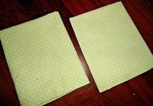 COSTCO CHARISMA GREEN & WHITE POLKA DOTS (PAIR) STANDARD PILLOWCASES 19 X 30