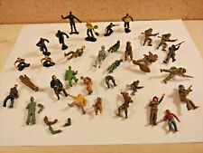 Vintage Plastic Mixed Military Model Figures Lot Airfix Aurora Unknown Maker