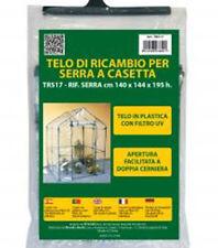 Telo di ricambio in PVC per serra Casetta Junior 140x144xh195 giardinaggio TRS17