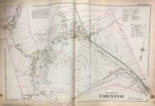ORIGINAL 1903 ORANGE COUNTY NY CHESTER CEMETERY GREYCOURT STATION PLAT ATLAS MAP