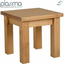 TNW Leon Lamp Table - Distressed Waxed Pine