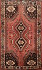 Vintage Geometric Tribal Abadeh Area Rug Hand-knotted Oriental Foyer Carpet 4x5
