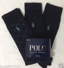 Polo Ralph Lauren 3-Pair Casual/Dress Socks Navy   (7937)
