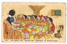 CPA BLANCHE NEIGE ET LES 7 NAINS N° 11