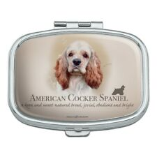American Cocker Spaniel Dog Breed Rectangle Pill Case Trinket Gift Box