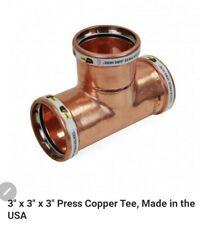 "Lot of 2) 3"" ProPress Copper Tee & 90° Elbow - Apollo 10062072 - 10062067 NEW!"