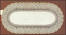 """Oval cream/dark gold, lace table runner,NEW 50 x 110cm (20"""" x 43"""") perfect gift"""